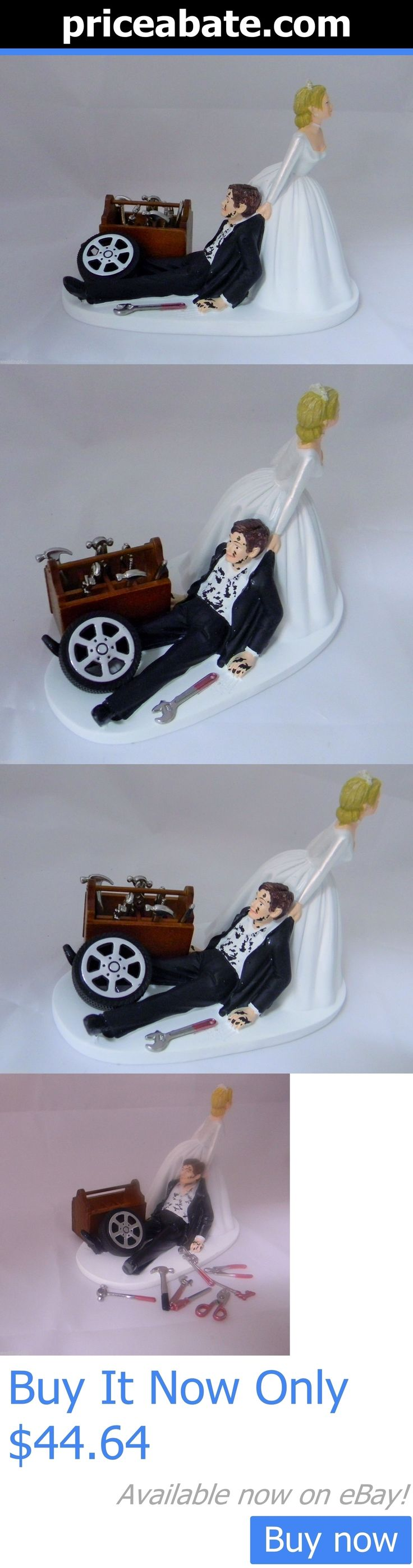 Wedding Cakes Toppers: Wedding Reception Race Car Truck Mechanic Tools Grease Cake Topper Shop Garage BUY IT NOW ONLY: $44.64 #priceabateWeddingCakesToppers OR #priceabate