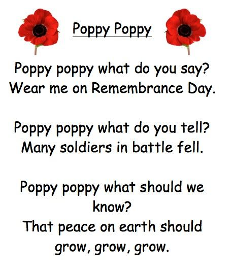 Rememberance day poem