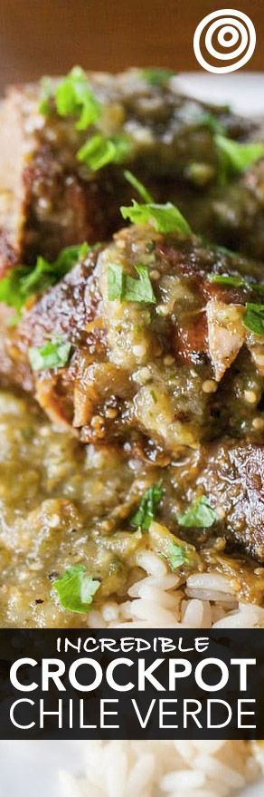 How To Make Chile Verde in the Slow Cooker or Crockpot. Cooking pork chile verde in your crock pot may not be the most authentic, but it sure makes the recipe easy! Recipes for easy dinners and meals like this one are perfect for fall and winter when you're in need of a little comfort food cooking. You'll need garlic, tomatillos, chicken stock, pork butt or shoulder, jalapenos.