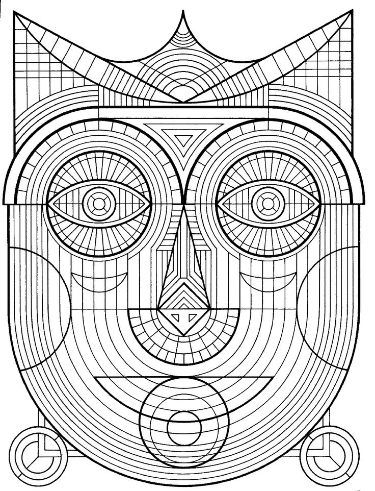 a coloring page from geometrical design coloring