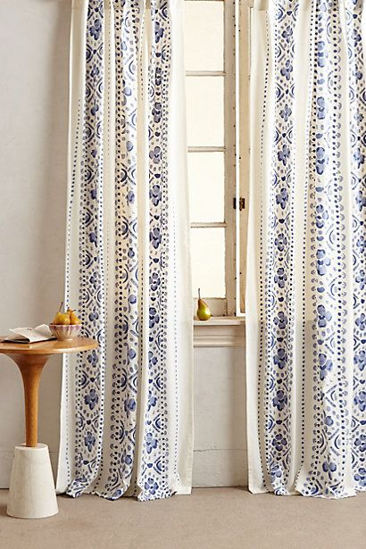 printed lyndley curtain #anthroregistry #hamptonsstyle