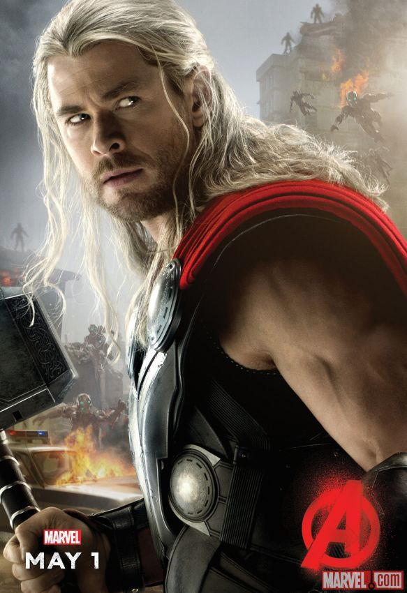 """Chris Hemsworth stars as #Thor in Marvel's """"Avengers: Age of Ultron,"""" hitting theaters May 1!"""