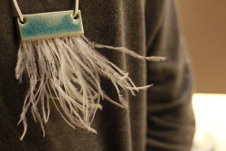 Özel tasarım seramik kolye. www.azimeozgen.com