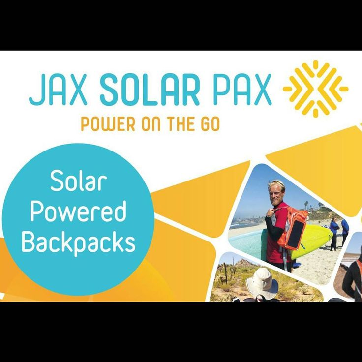 A Solar powered backpack is a great idea that solves a common 21st century problem and Jackson at just 12 years of age has taken the initiative to do just that. JaxSolarPax enables you to charge a mobile phone ipad or any device with a USB port whilst on the GO!  Available in two styles The orange Sports Solar Pax comes complete with 2ltr water bladder sports back support and a removable solar panel to keep your USB device fully charged. The black Day Solar Pax has a built in solar pannel…
