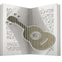 Guitar book folding pattern