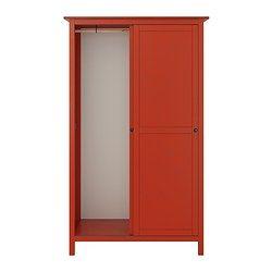 HEMNES Guardaroba con 2 ante scorrevoli - rosso - IKEA