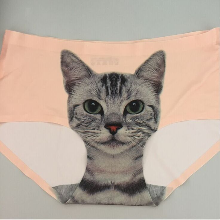 Seamless 3D Cats Print Underwear Women Briefs