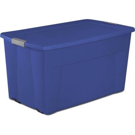 sterilite 45gallon wheeled latch tote storage