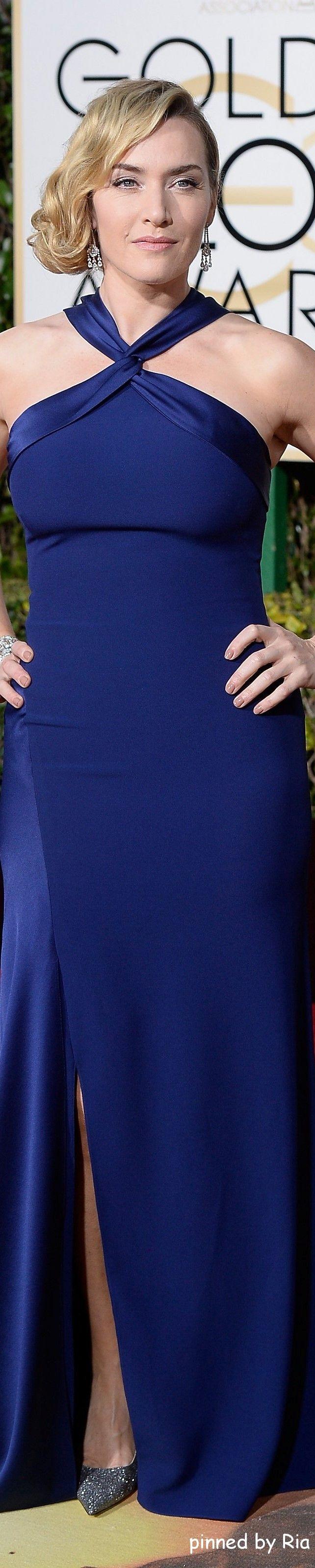 Kate Winslet in Ralph Lauren l Golden Globe Awards 2016 l Ria