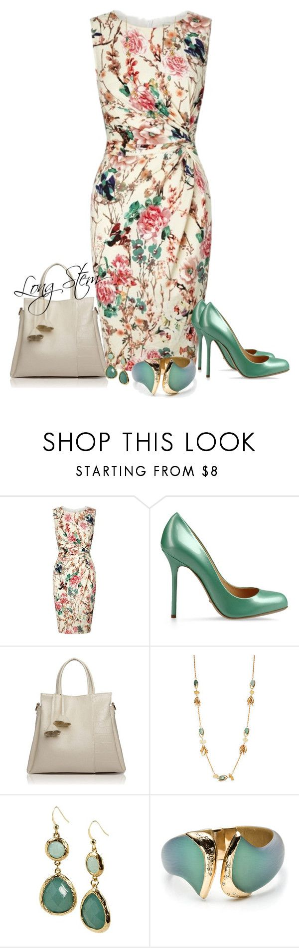 """""""2/18/17"""" by longstem ❤ liked on Polyvore featuring Lipsy, Sergio Rossi, Cara and Alexis Bittar"""