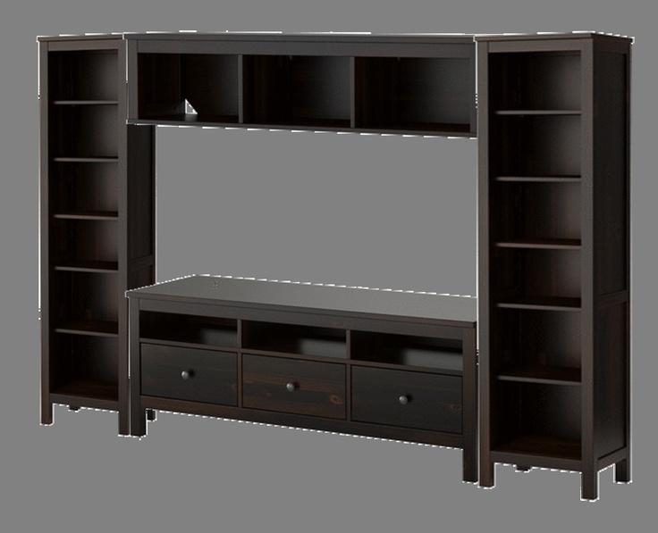 ikea hemnes entertainment unit living rm pinterest. Black Bedroom Furniture Sets. Home Design Ideas