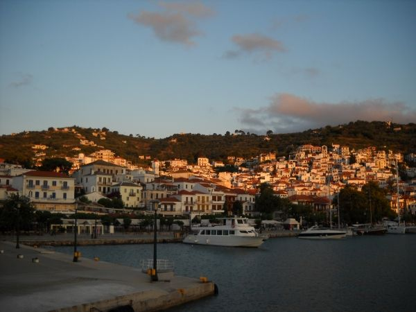 Sunset in Skopelos Town