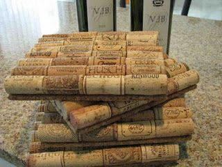 Wine Cork Trivets. I make these all the time. The link is actually to a blog I used to do mostly for family and friends.