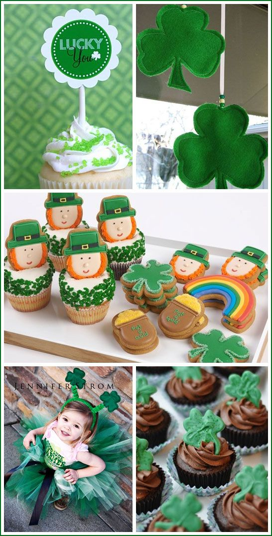 St. Paddy's decorations, desserts and crafts