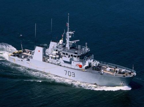 HMCS Edmonton (MM 703) Kingston Class Coastal Defence Vessel of Royal Canadian Navy.