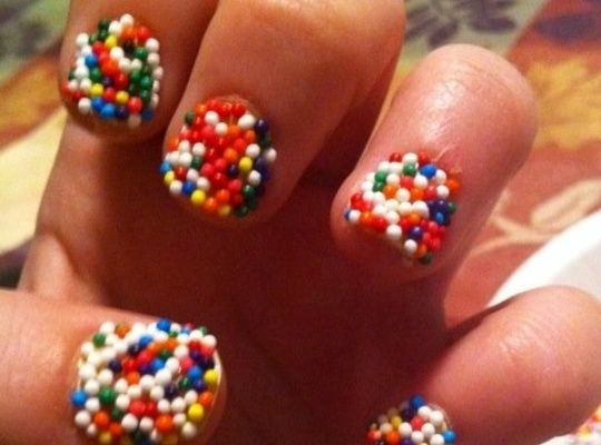 How to Make Sprinkle Nails LOVE IT