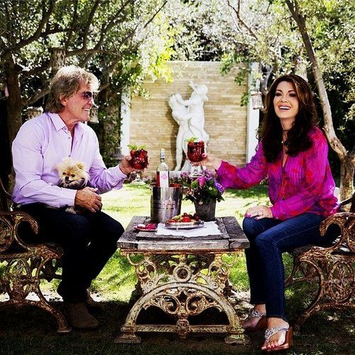 Ken Todd and Lisa Vanderpump ~ Real Housewives of Beverly Hills #RHOBH - love the table & chairs