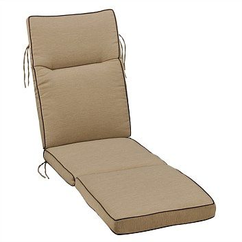 Briscoes - Outdoor Creations Deluxe Lounger Cushion Box Style Cream