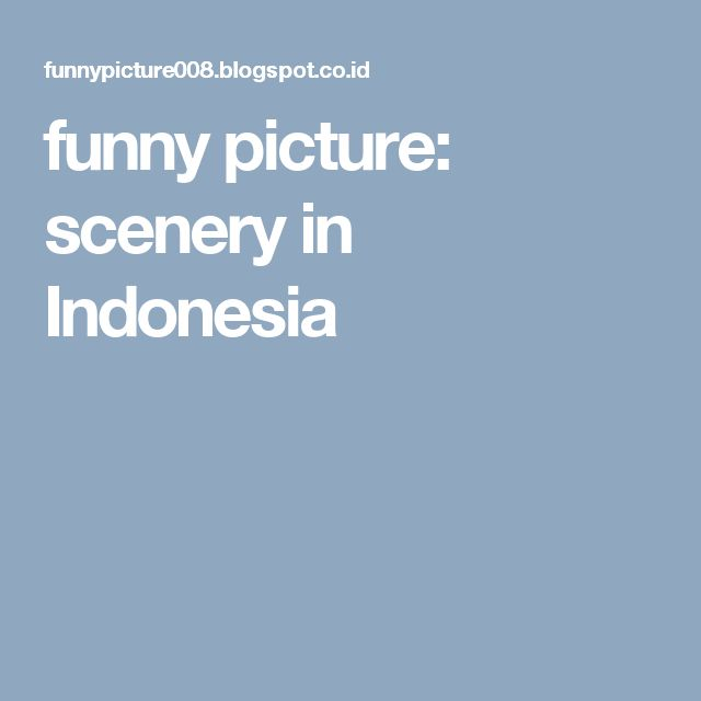 funny picture: scenery in Indonesia