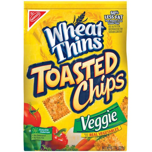 Nabisco Wheat Thins Toasted Chips, Veggie, 8.1 oz