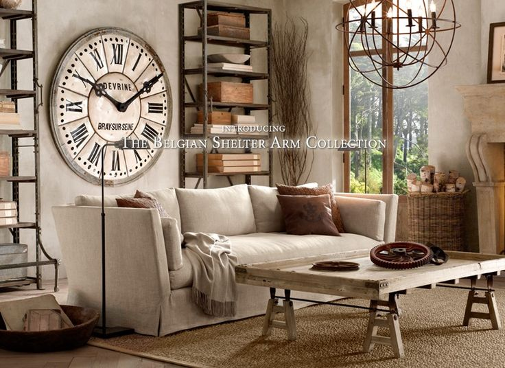 149 best images about restoration hardware on pinterest for Steampunk living room ideas