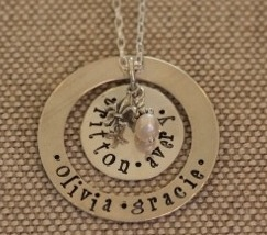 Hand Stamped Jewelry... the perfect Mother's Day gift! www.thepolkadotpress.com: Holiday, Mothers, Mother Day Gifts, Hand Stamped Jewelry, Room