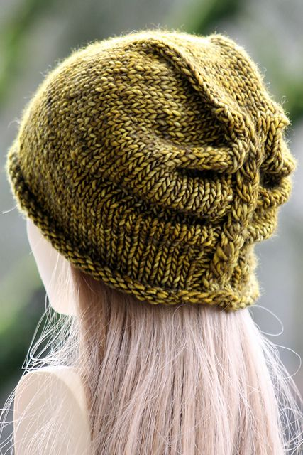 I'm Lichen This Hat pattern by Gretchen Tracy | malabrigo Mecha in Mostaza