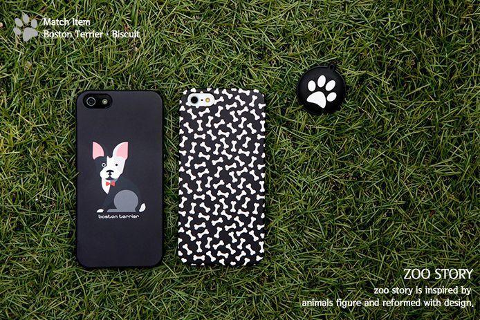 BostonTerrier Korea iPhone 5 5s Case 2ea, animal printed,polycarbonate UV Coated #applemintplatform