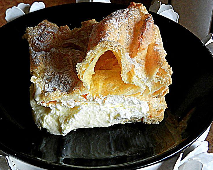 Ptysiowe ciasto z kremem karpatka,budyniem lub śmietaną...