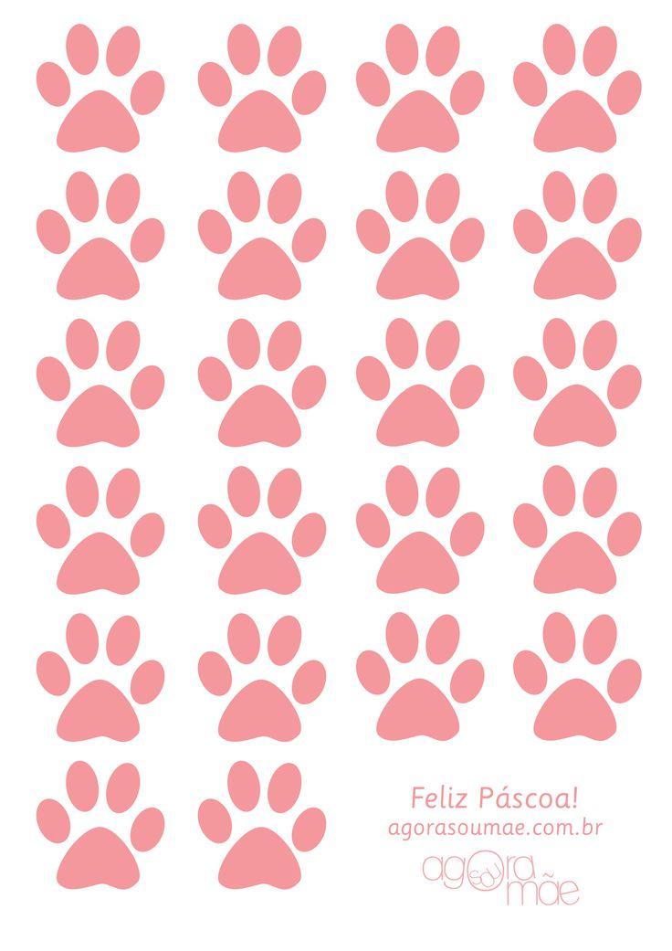 Patinhas do coelho para imprimir - Agora Sou Mãe - Blog Sobre Maternidade