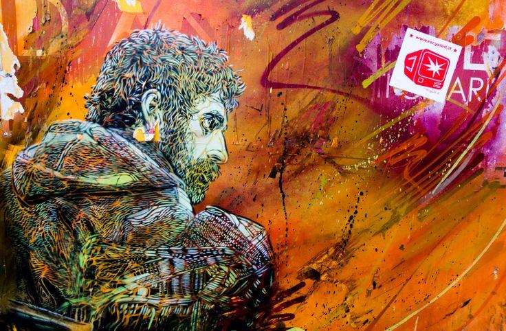 street art & stickers #streetart #recycleit #c215 #stickers