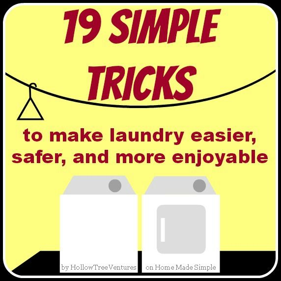 19 great tips to make doing laundry faster, easier, and more pleasant! By @hollow tree ventures on Home Made Simple