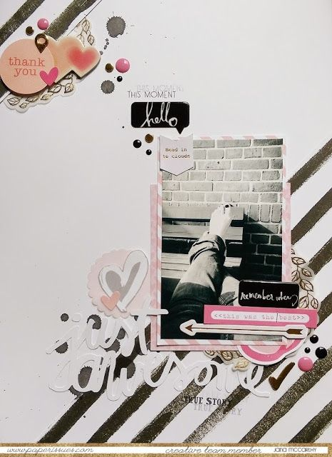 #papercrafting #scrapbook #layouts: by Jana McCarthy for Paper Issues