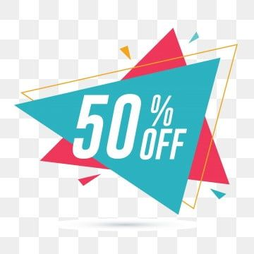 50 Off Discount And Sale Promotion Banner Friday Clipart Flat Percent Png And Vector With Transparent Background For Free Download Sticker Store Online Posters Banner