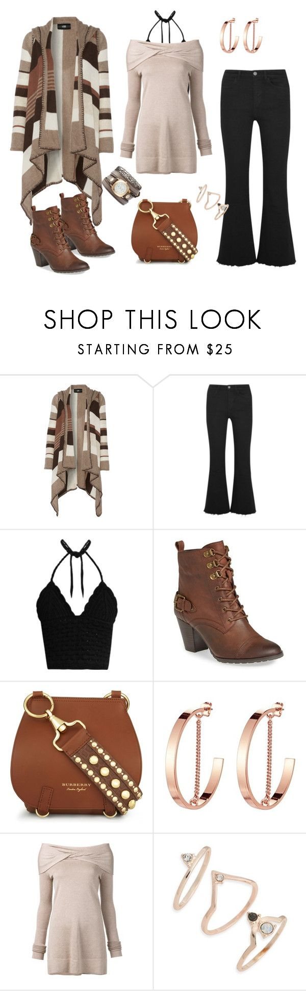 """Sem título #208"" by marlenewelke ❤ liked on Polyvore featuring Line, M.i.h Jeans, RED Valentino, Bella Vita, Burberry, Jenny Bird, Derek Lam, Topshop and La Mer"