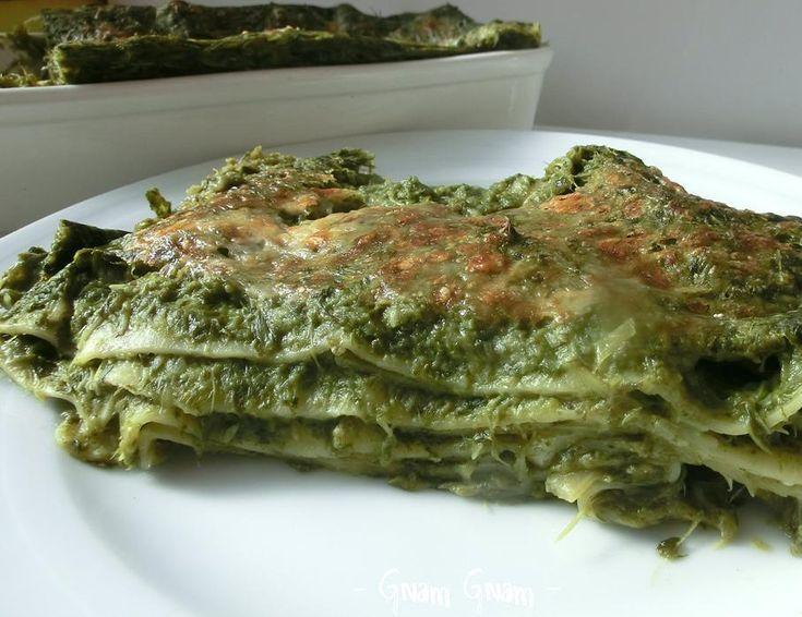 Lasagna con scarola e formaggio   Ricetta vegetariana