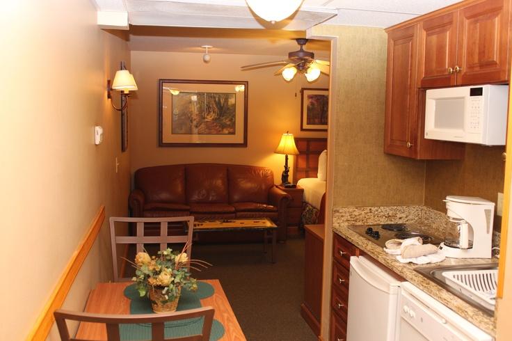Our studio villas are great for those traveling alone.   #Smokies  #Gatlinburg #Resort