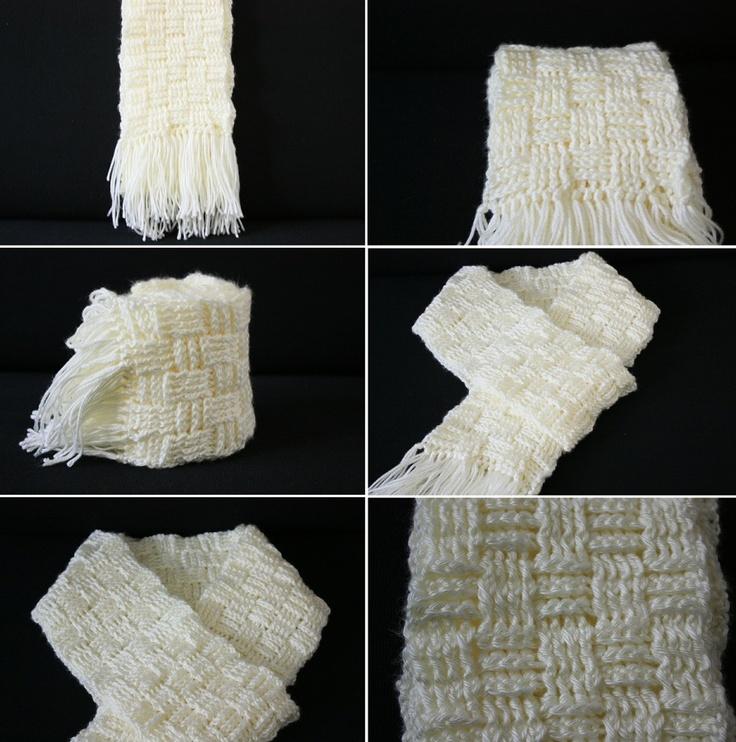 Basket Weave Tutorial Crochet : Diy tutorial crochet stuff scarf in basket weave