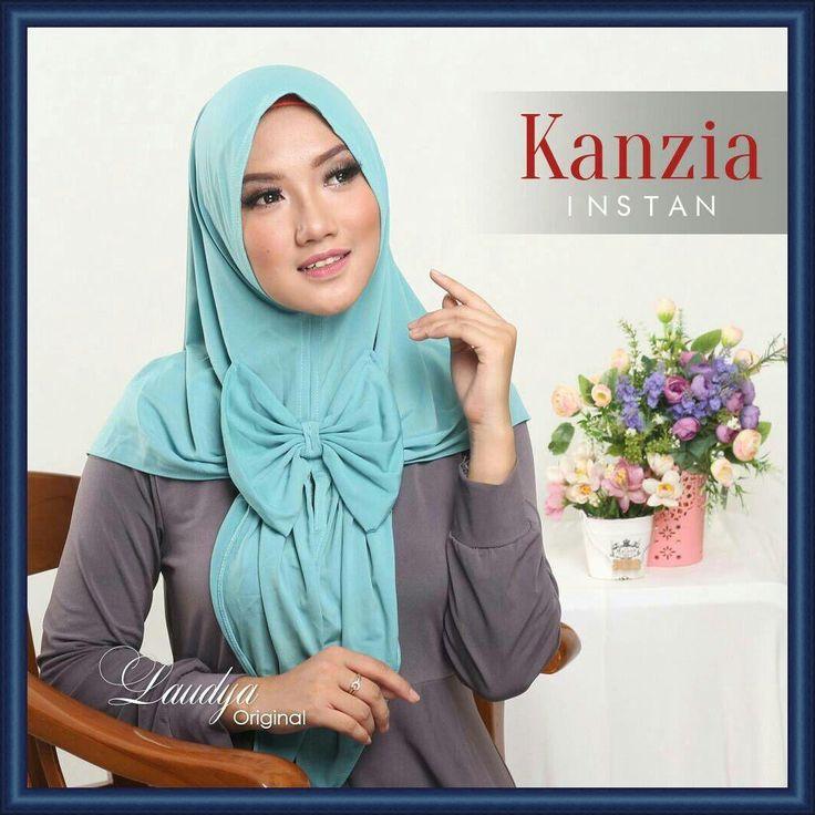 Jilbab Instan Jersey Terbaru Kanzia by Laudya Hijab