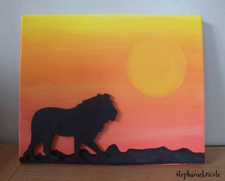 Tuto home deco peindre facilement un tableau avec un enfant ou sans enfant - Idee tableau peinture ...