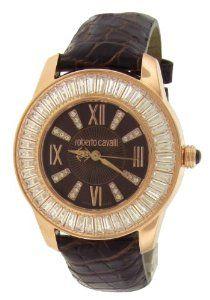 Roberto Cavalli Rose Gold PVD Crystal Bezel Unisex Watch SWK007