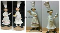 Resin Chef Figures Kitchen Ornament Fat,Skinny Man And Woman Approx 26 Cm