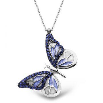 925 Ayar Gümüş Mavi Kelebek Kolye SATIN AL >> http://goo.gl/8rYwGV Sipariş Hattı: 0850 346 50 46   0544 219 15 75