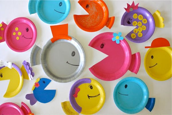 Colorful Plate Fishes - Cute Craft Ideas for Your Cute Kids ❤