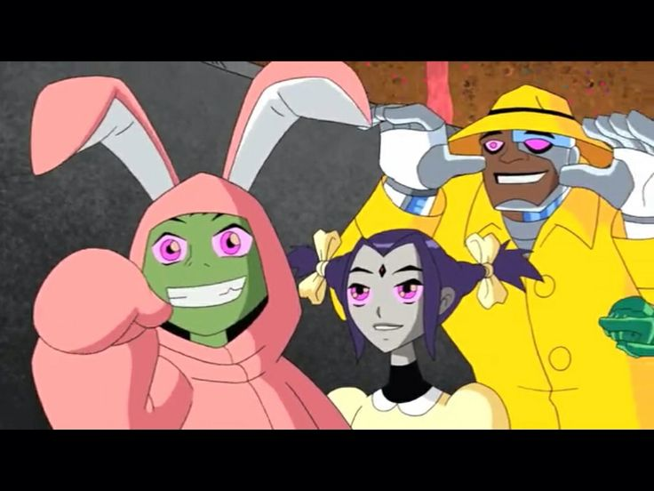 Teen titans in funny suits