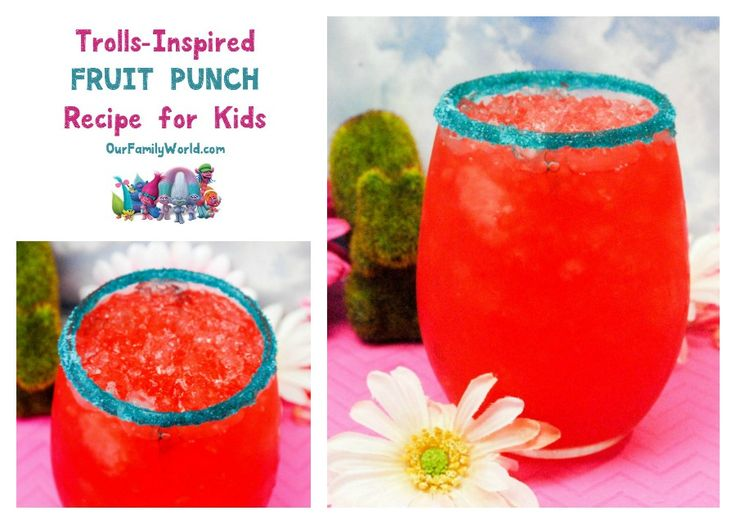 Celebrate all things Trolls with this easy & tasty movie-inspired fruit punch recipe for kids! Check it out!