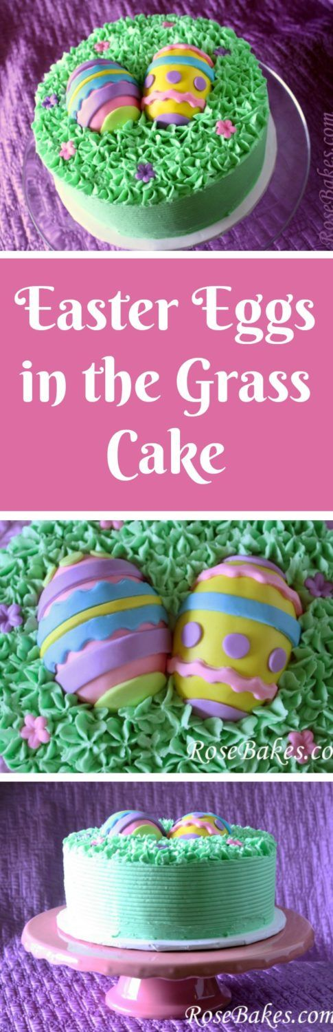 Easter Eggs in the Grass Cake