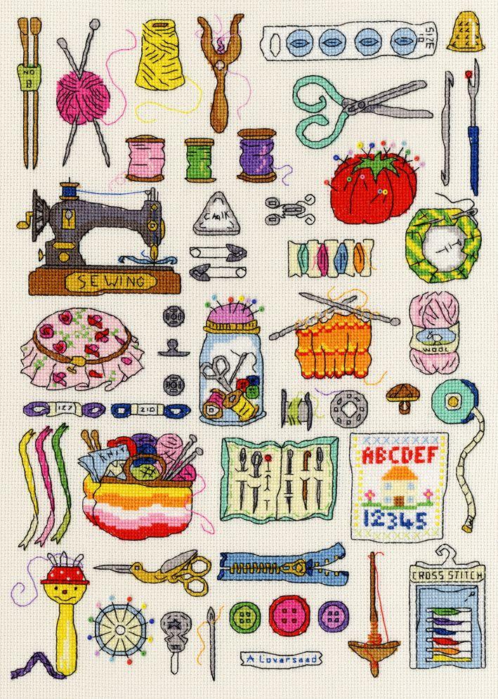 Craft-related cross stitch