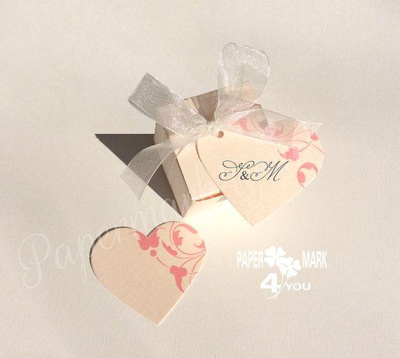 25 Blush Wedding Square Favor Box  2_Blush Pink by PaperMark4You