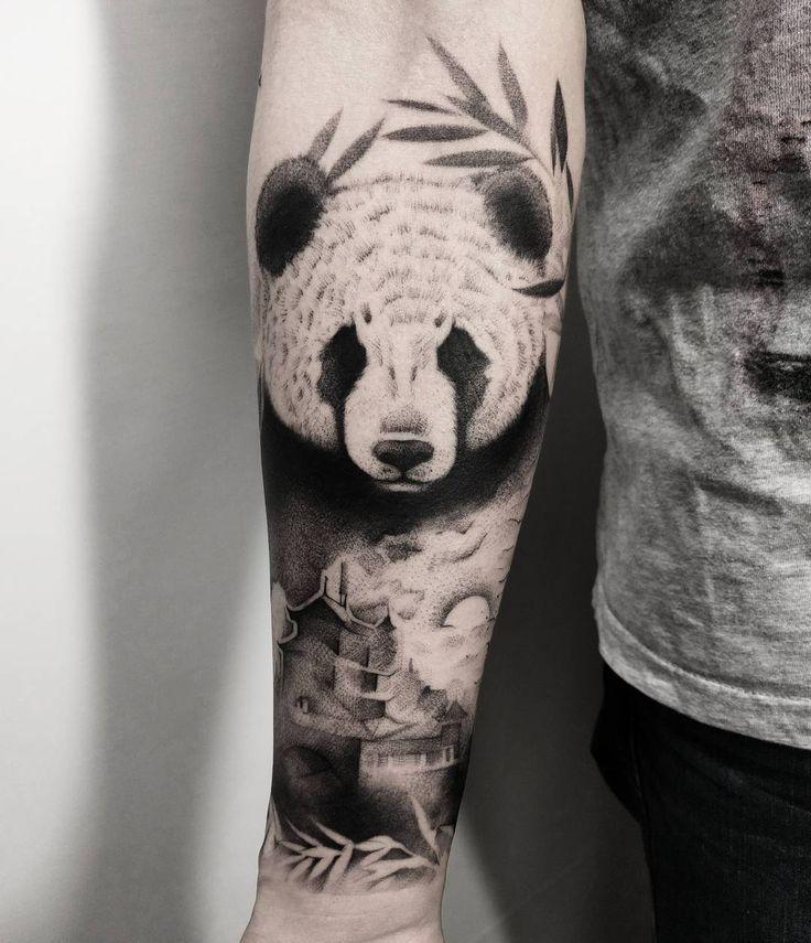 25 best ideas about panda tattoos on pinterest. Black Bedroom Furniture Sets. Home Design Ideas